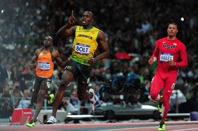 Who's idea was it to let Bailey run the same leg as Bolt ...