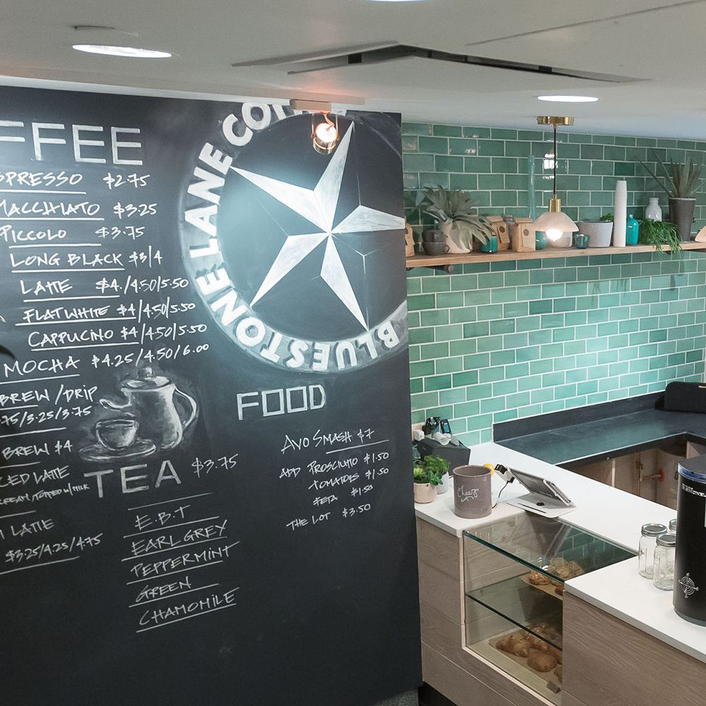 bluestone lane cafe: delicious coffee, food and tile design