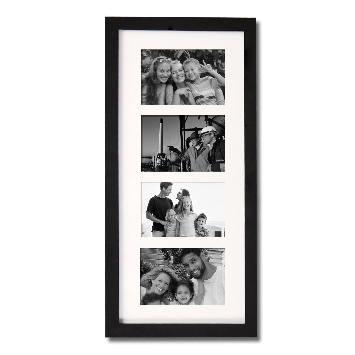 Adeco (PF0426) Decorative Black Wood Wall Hanging Picture Photo ...