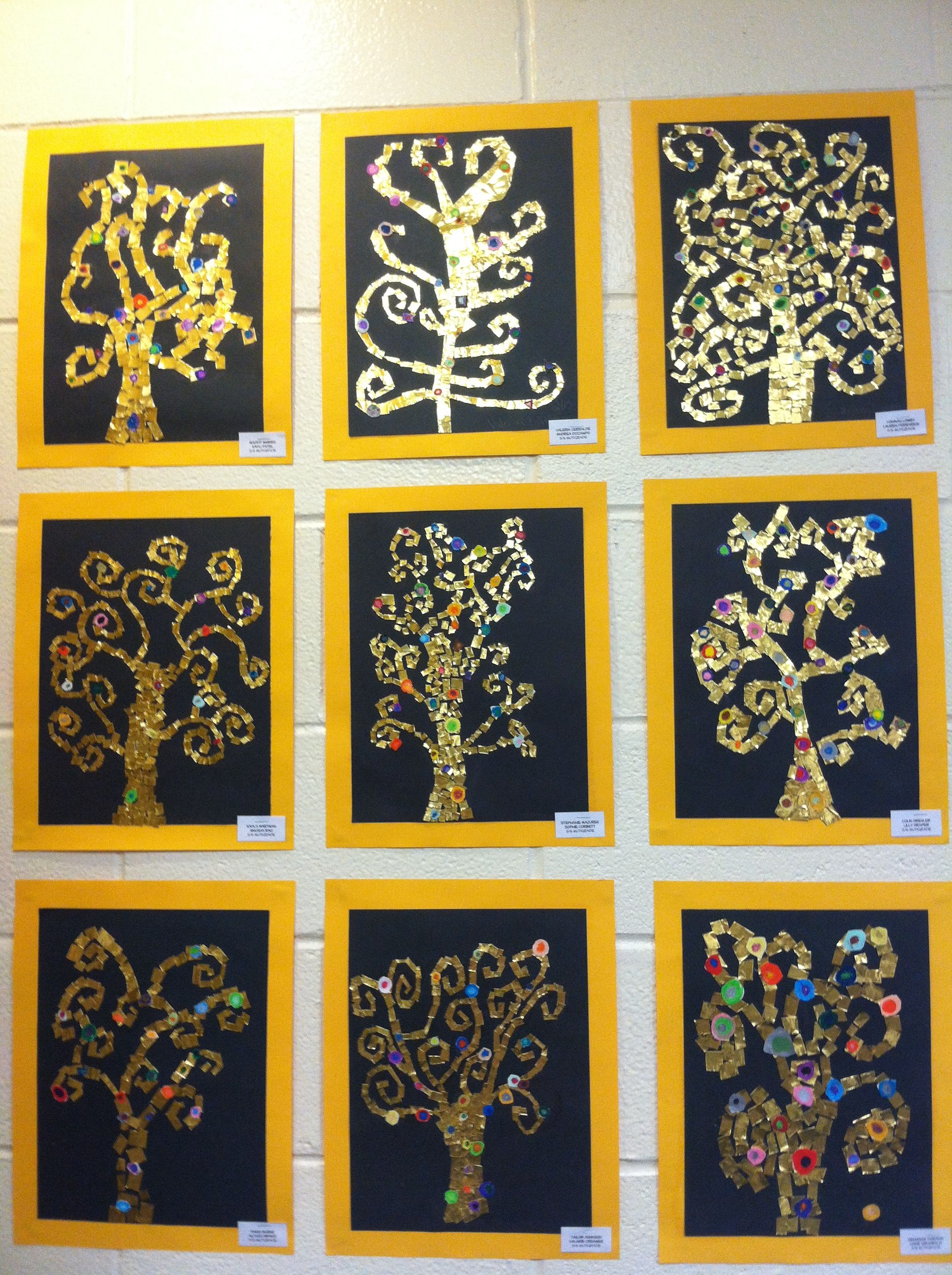 gustav klimt tree of life art project 56 grade art