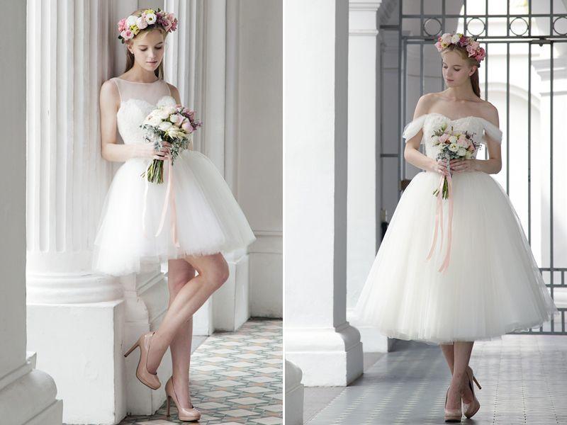 30 Modern Short Wedding Dresses For Summer Brides | Short frocks ...