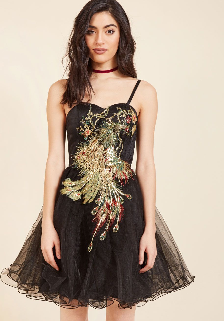 Chi chi london perfect poise tulle dress in peacock tulle dress