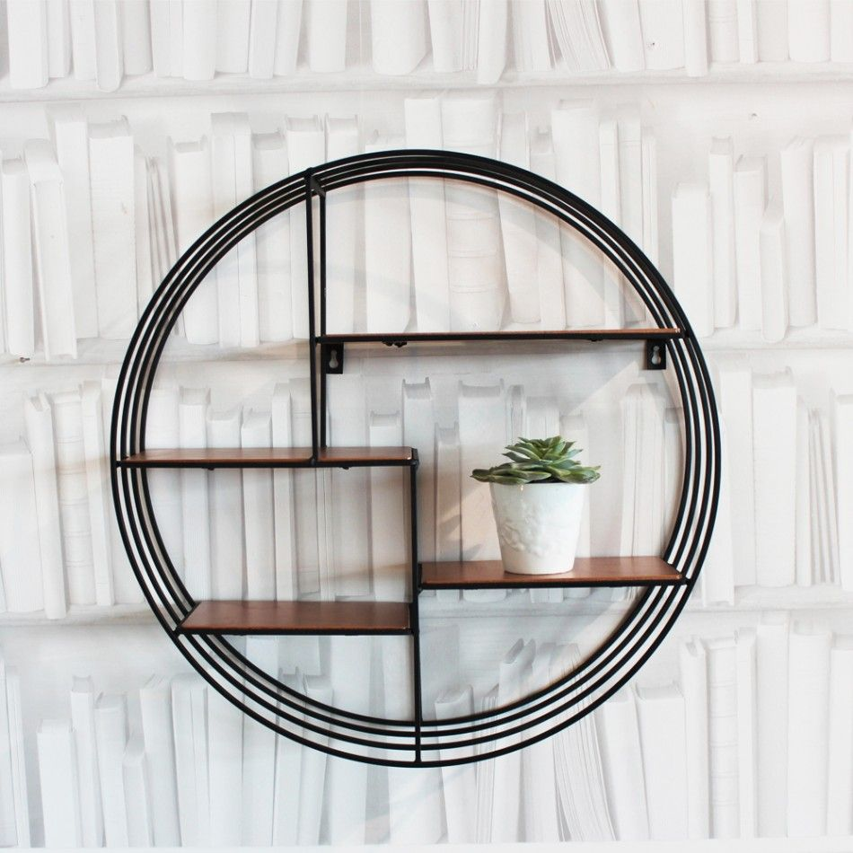Round Copper Deco Shelf by Graham & Greendup