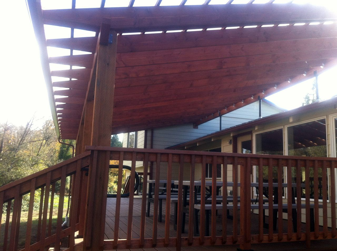 Gallery SkyLift Roof Riser Hardware Pergola, Deck with
