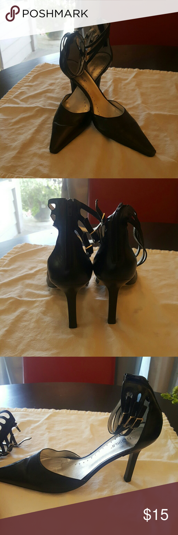 BCBGIRLS Pumps Black 3.5 inch heels.  Worn some, but plenty of life left.  Foot injury prevents from ever wearing heels again.   So sad.... Shoes Heels