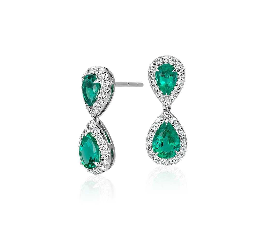 on earrings natural item full diamond emerald clip cabochon f unique handmade gold