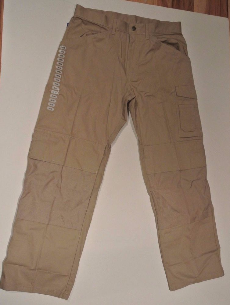 Skillers Workwear Tan Pants 34 X 30 New W Tags Premium Polyeten