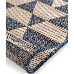Photo of alfombra interior y exterior benuta River Beige / Azul 133×190 cm – para balcón, terraza y jardín benuta