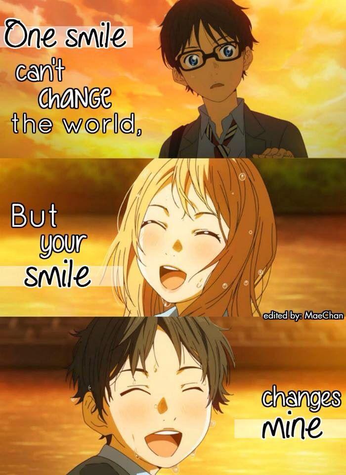 ابتسامة واحدة لا يمكنها تغيير العالم لكن ابتسامتك تغيرني Kousei and Kaori
