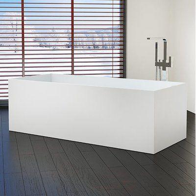 Photo of Badeloft 61″ x 26″ Freestanding Soaking Bathtub | Wayfair