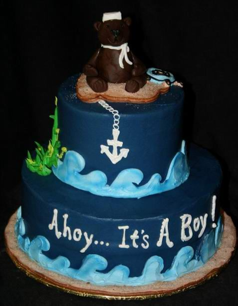 Baby Shower Cake Nautical diabetesmanginfo