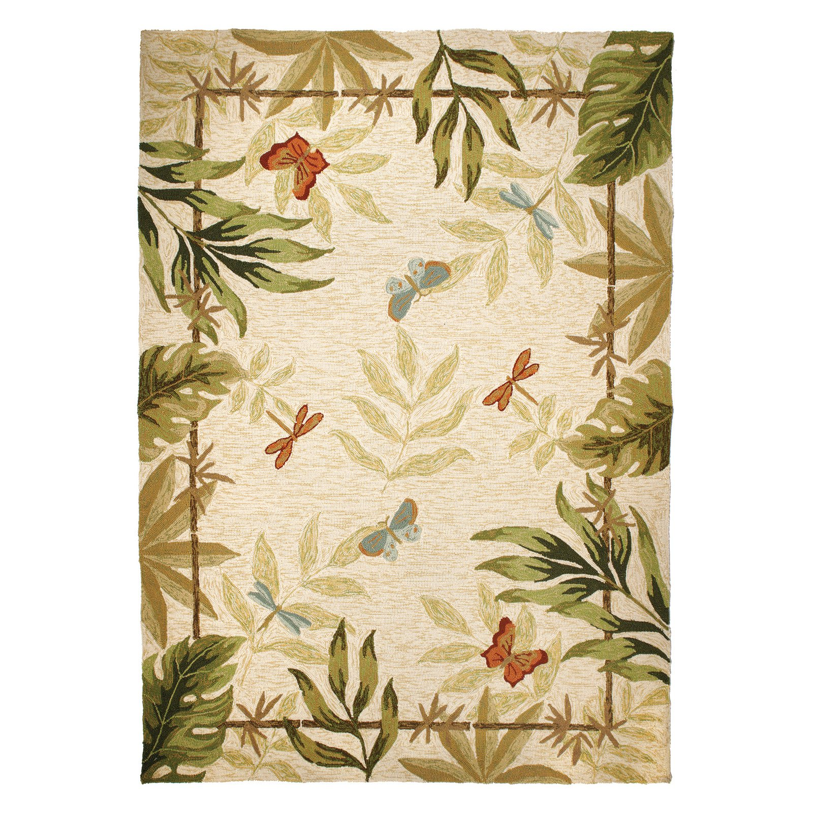 Dragonflies Indoor Outdoor Area Rug