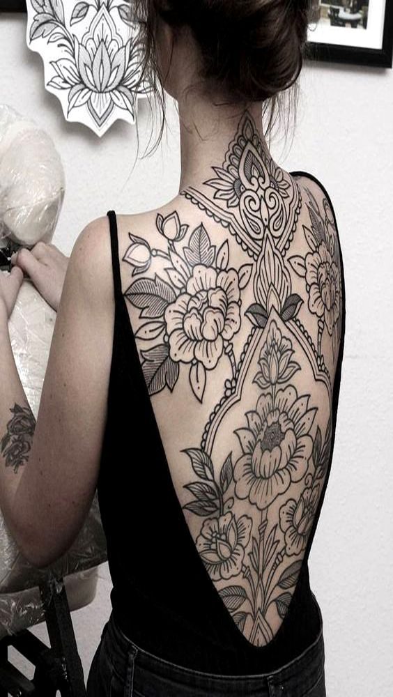 Photo of BLACK AND WHITE FLOWER TATTOO