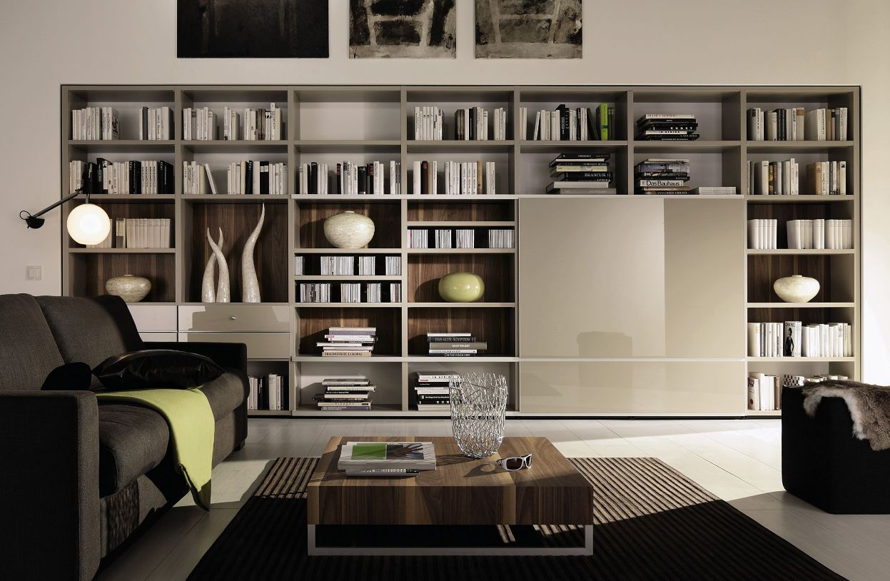 Attractive Bookcase Design In Office Room