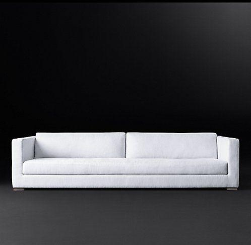 Modena Shelter Arm Fabric Sofa Rh Modern Shaker Style