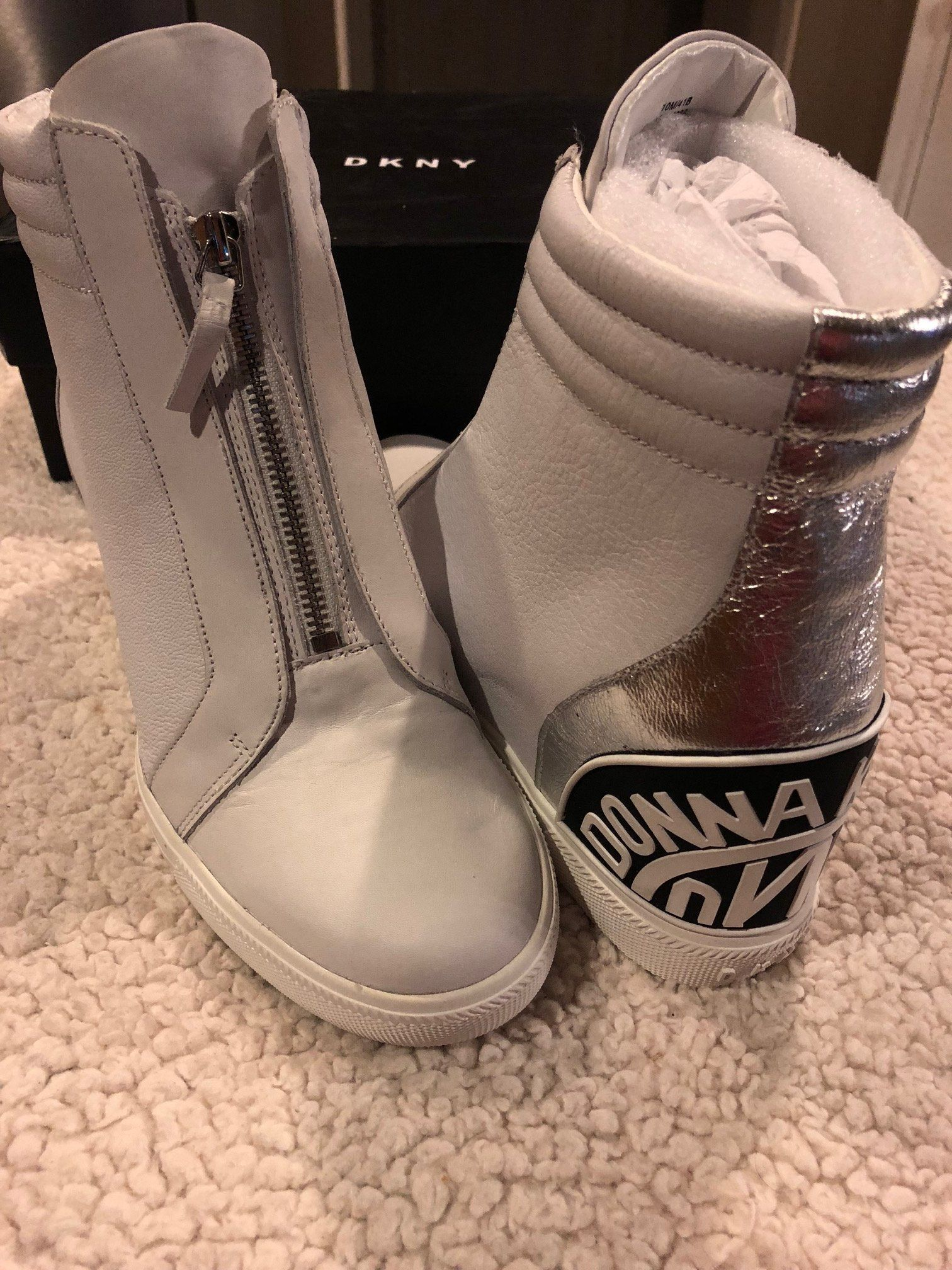 4edc9d3007 DKNY Connie Slip-On Wedge Sneakers | Products | Wedge sneakers, Ugg ...