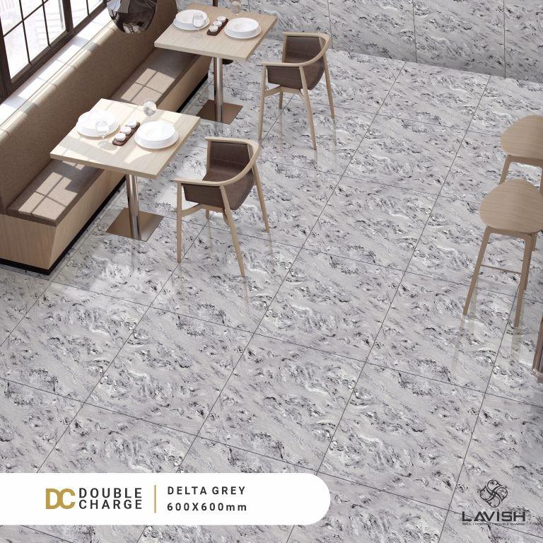 Lavish Ceramics Presents Delta Grey Double Charge Tiles 600x600mm Tile Manufacturers Vitrified Tiles Ceramic Tiles