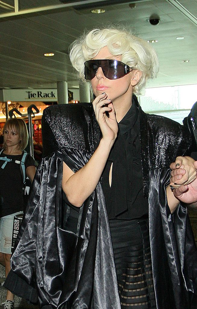e45d37e6f3 Lady Gaga Designer Shield Sunglasses