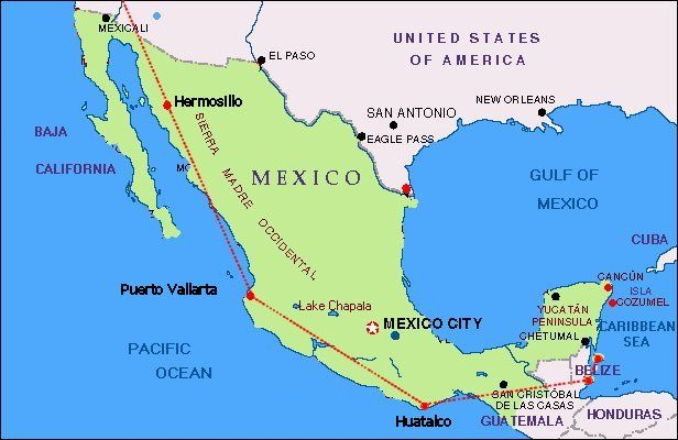 Western Carrib Mexico Coming Up Soon Lovin Travel - Belize map