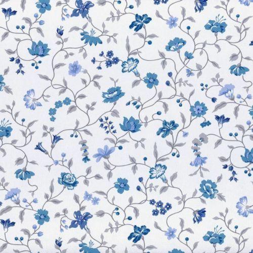 vintage diary tapete rasch textil 255224 blumen ranken weiss blau 2 70 1qm dekor pinterest. Black Bedroom Furniture Sets. Home Design Ideas