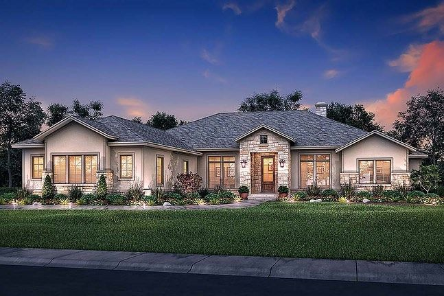 Cool House Plans On Instagram Traditional Style House Plan 51983 Find This Plan At Www Cool Ranch Style House Plans Brick Exterior House Ranch Style Homes