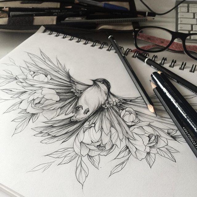 Bird Line Drawing Tattoo : Omg this is amazing i want so bad tattoo idea