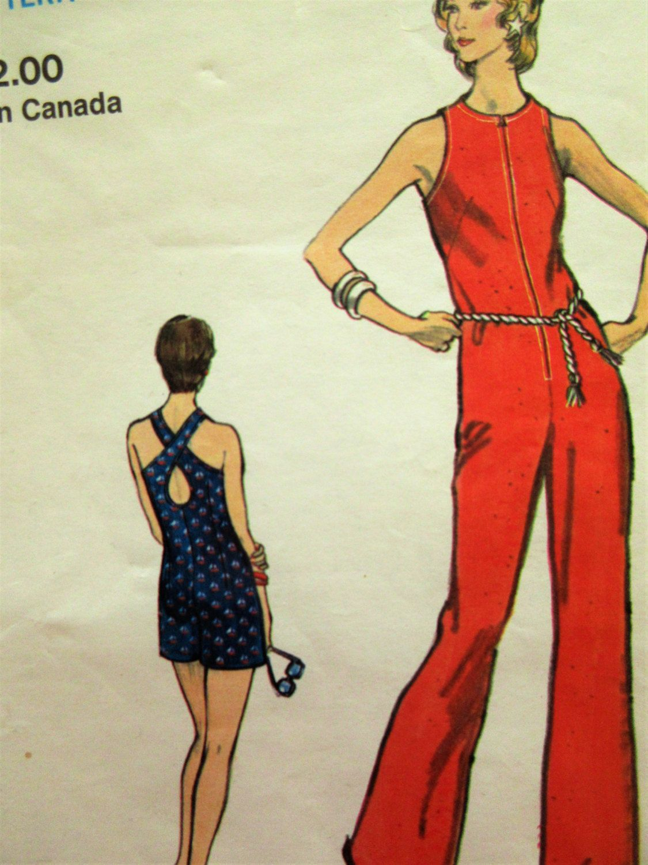 Vintage Vogue 8307 Sewing Pattern, 1970s Jumpsuit Pattern ...