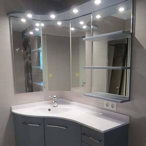 Meuble Armoire D Angle Pour Salle De Bain – Salle de bains ...