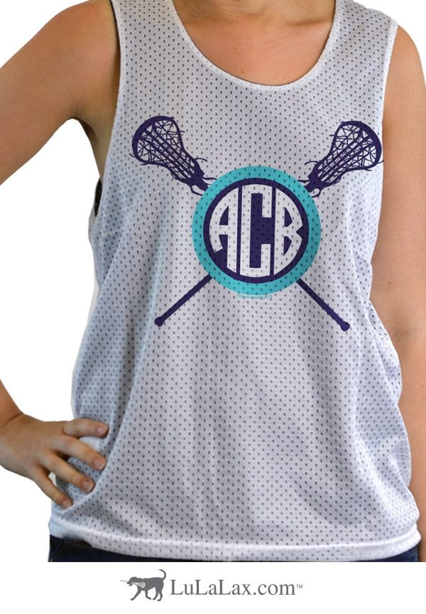 Our fun girls lacrosse designs make these pinnies fun to wear on and off the lacrosse field! Add your monogram and show the world how much you love your sport! LuLaLax.com