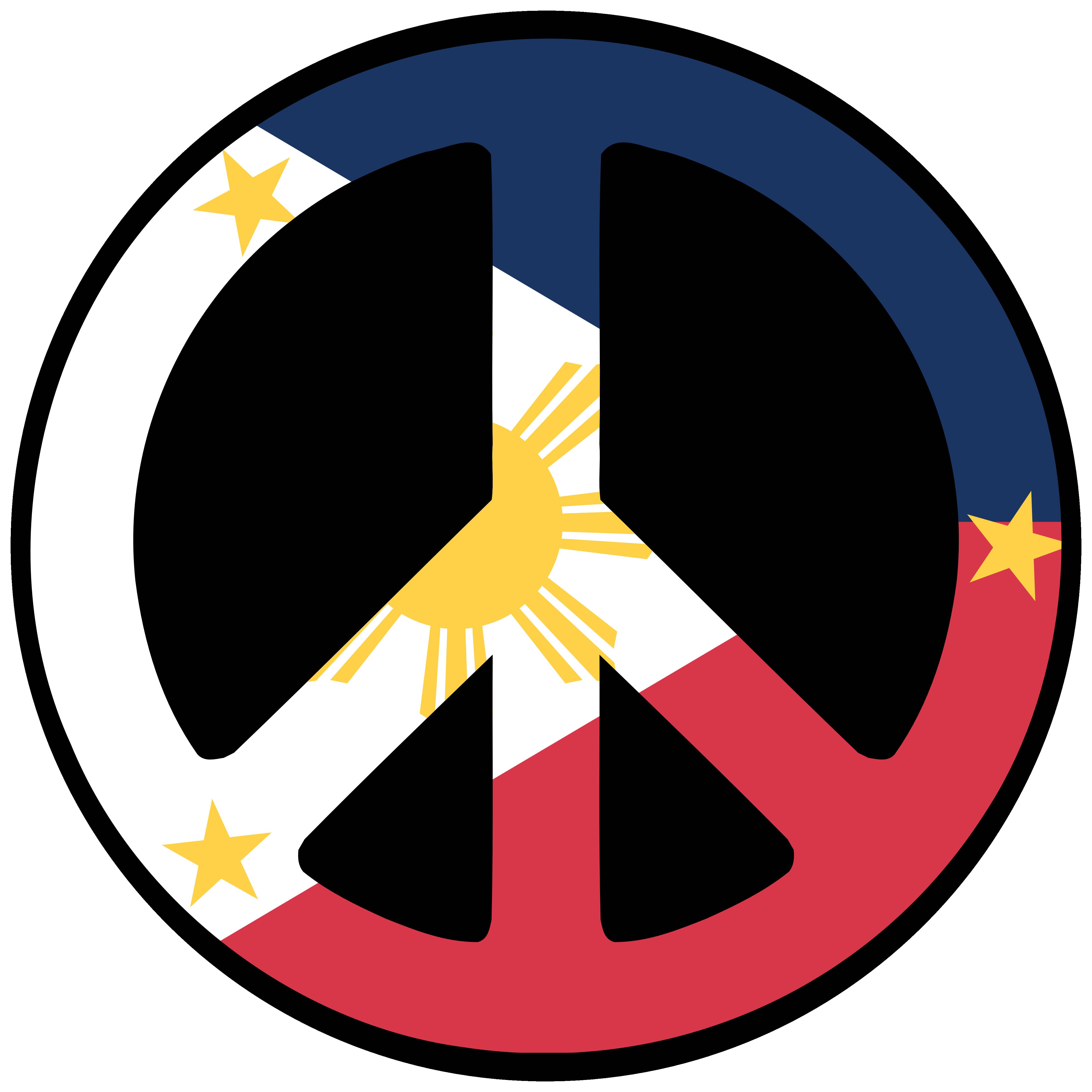Philippines Peace Symbol Flag Peace Sign Art Peace Peace Symbol