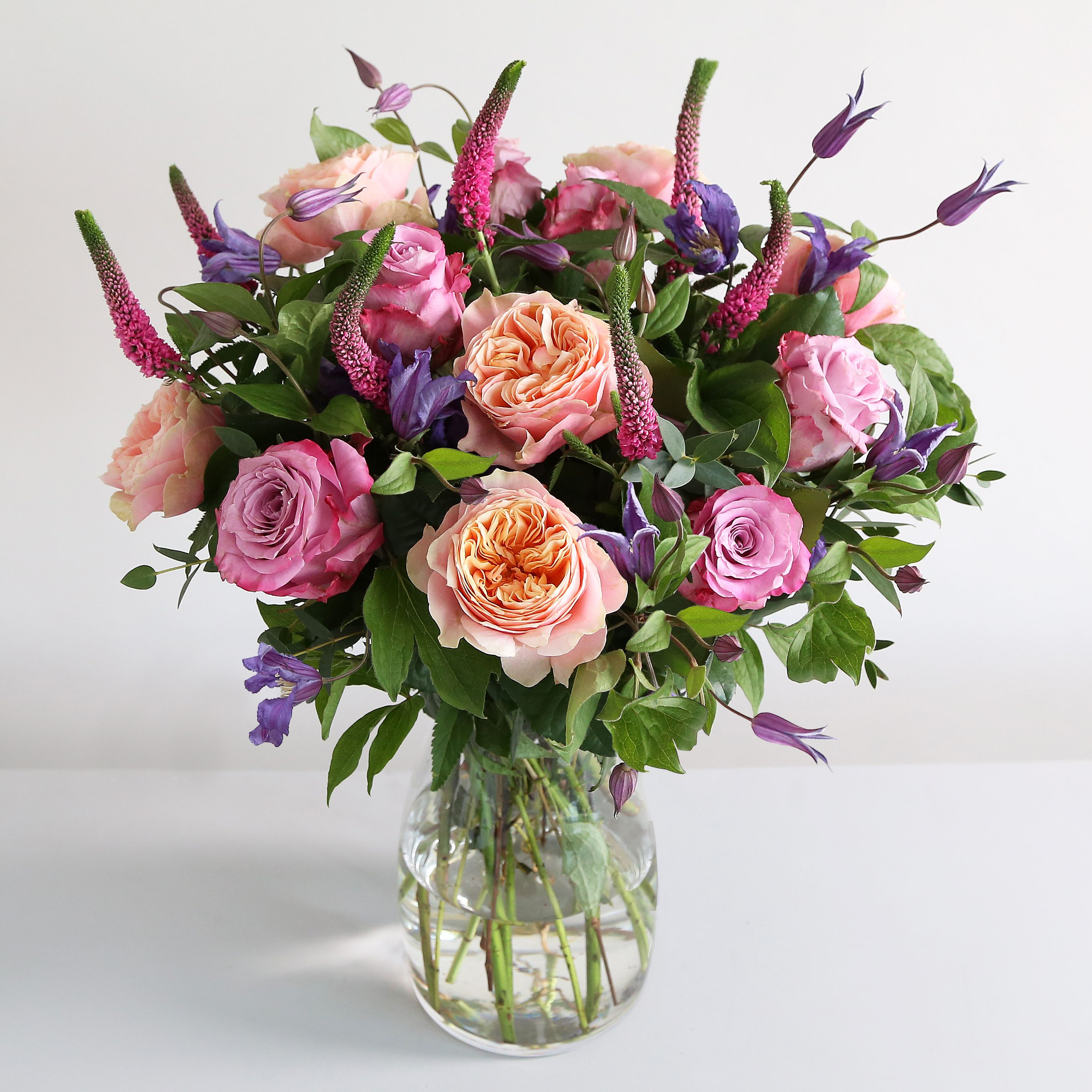 Summer romance bouquet 6 vuvuzaela 7 veronica pink 4 parvi call now on 0800 0350 flower delivery london uk from leading online flower shop arena flowers izmirmasajfo Image collections
