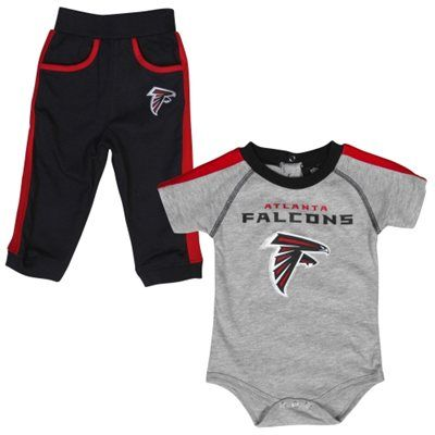 separation shoes 7aa5a 02780 Atlanta Falcons Newborn Creeper Pant Set - Ash/Black ...
