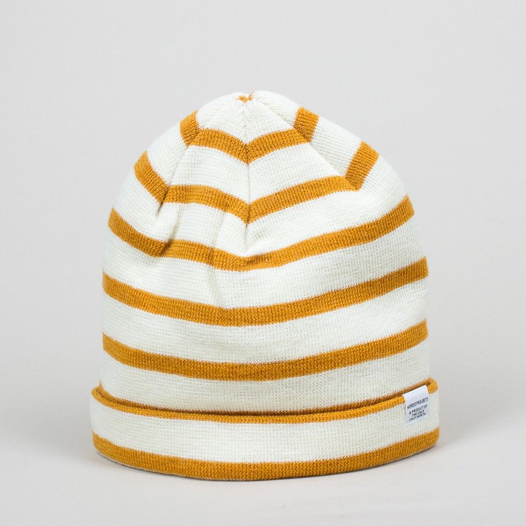 Classic Normandy Beanie - Mustard | Norse Projects | Peggs & son.