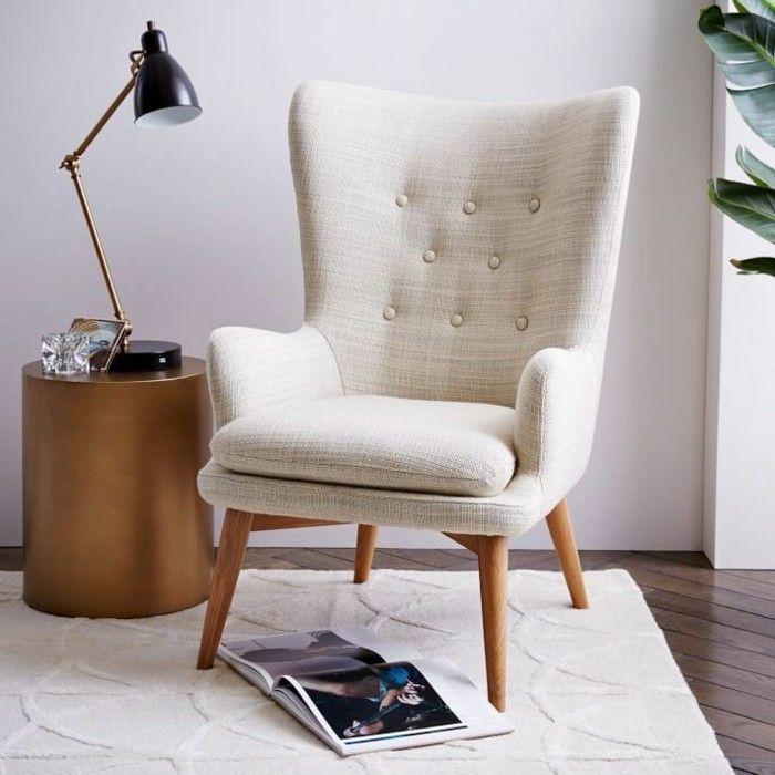 Chaises Scandinaves Vintage Salon Scandinave Vintage Οικία και - Petit fauteuil scandinave