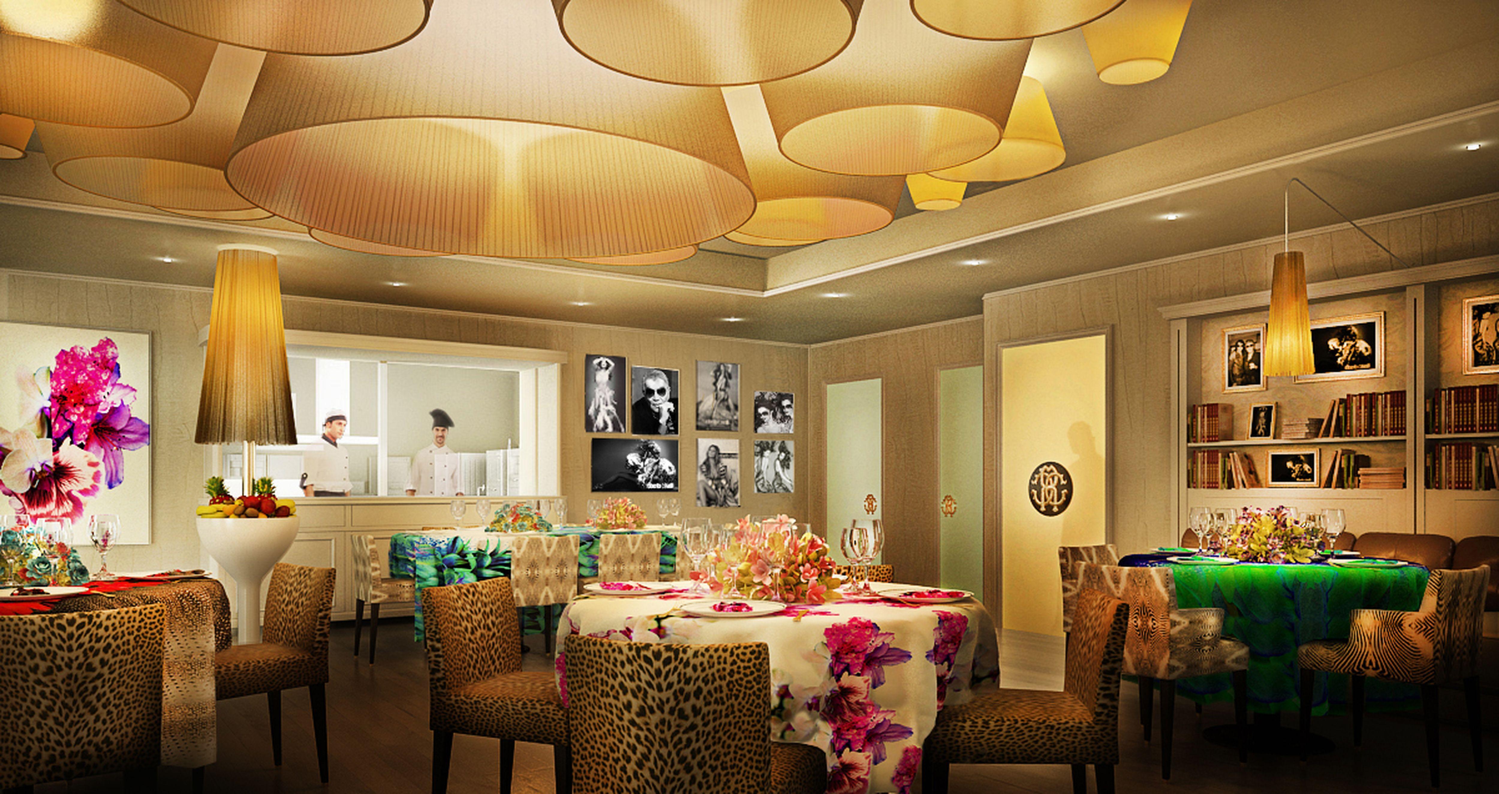 Inside the 'Cavalli Restaurant & Lounge' in Miami Beach