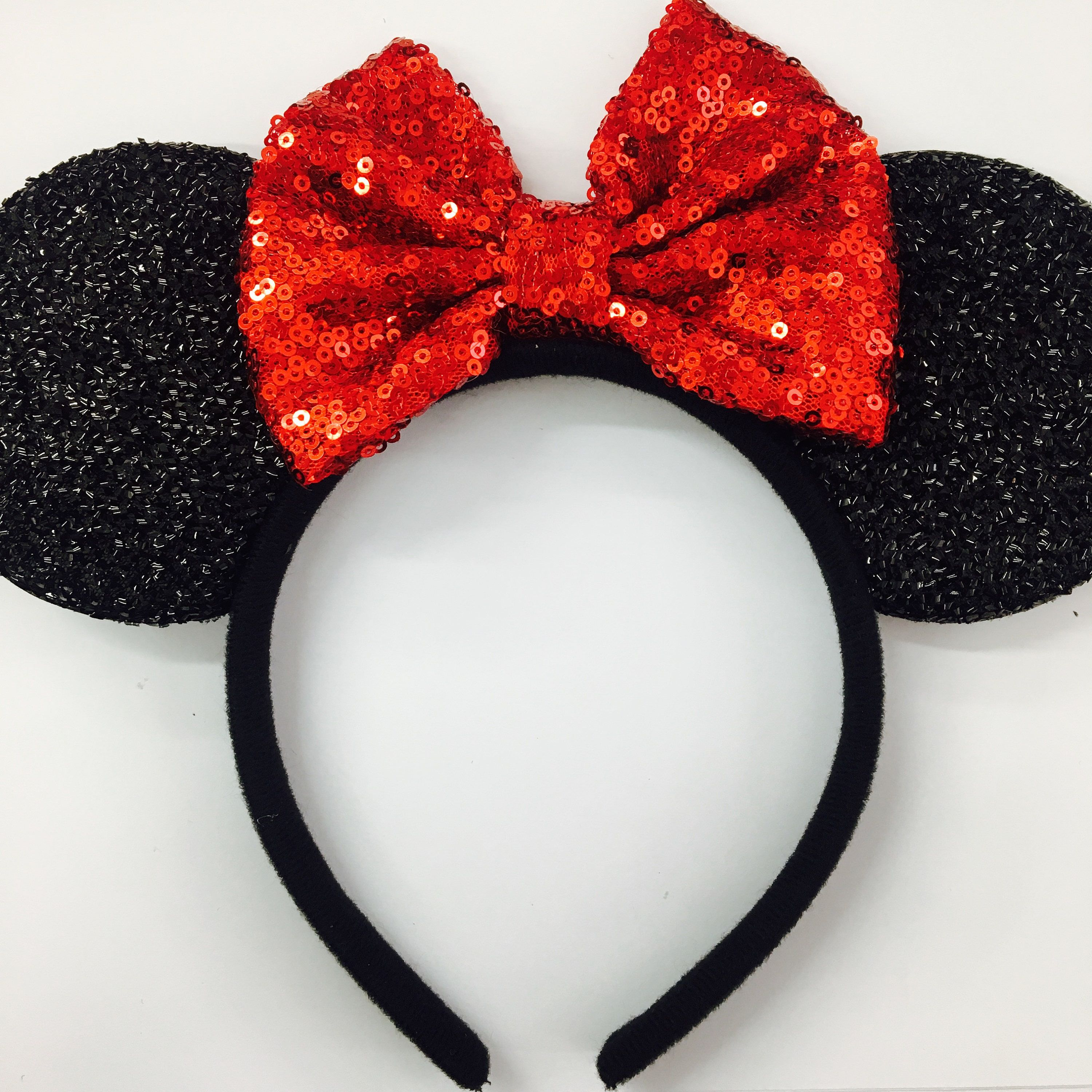 Blue// Silver Minnie Mouse Ears Headband Disney Rose Gold Red// Rainbow