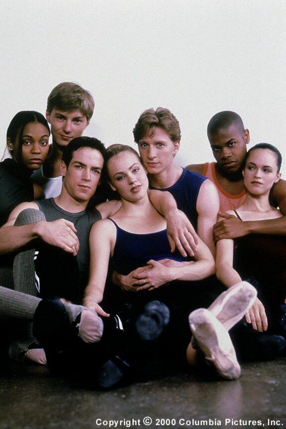 The Awesome Cast Of Center Stage Funny That They Were All Dancers Except For The Girl Who Played The Best Dancer Lol Center Stage Movie Dance Movies Movies