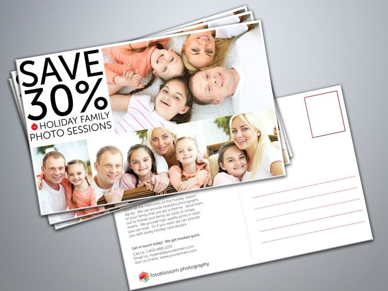Free Postcard Templates For Photographers  Photography Freebies