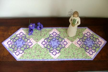 Advanced Embroidery Designs Quilted Table Runner With