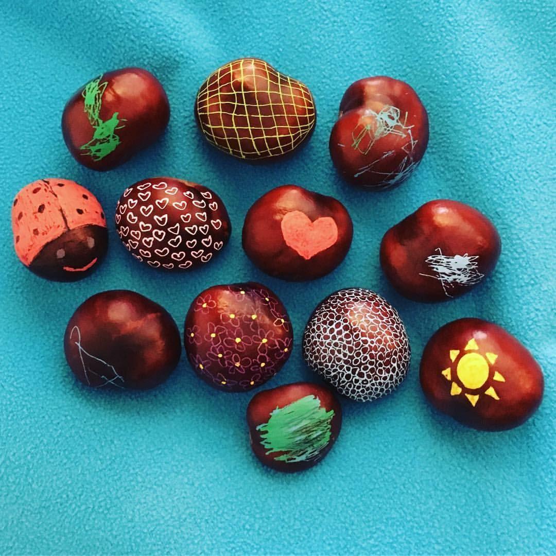 Herbst Dekoideen zum selber basteln  #kastanien #deko #herbst #diy #chestnut #decor #ideas #kastanienbastelnkinder
