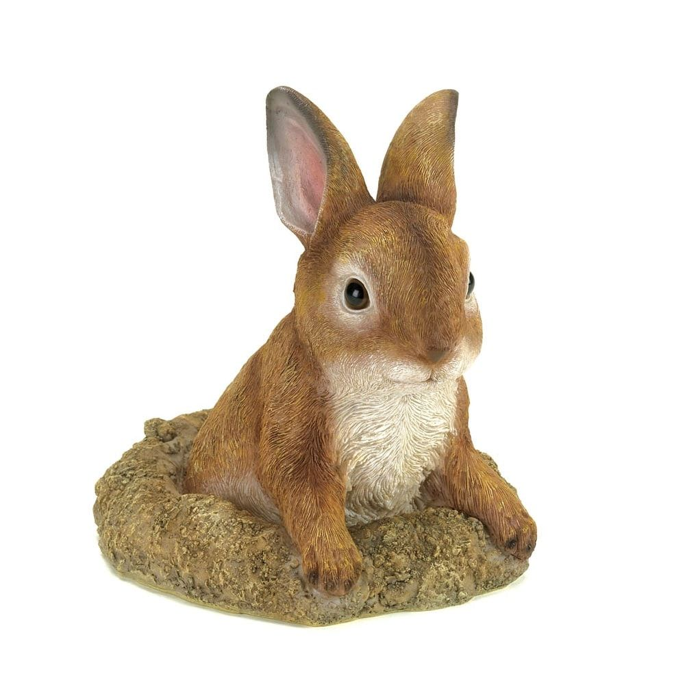 Curious Bunny Garden Decor, Grey stone, Outdoor Décor | Outlet store ...