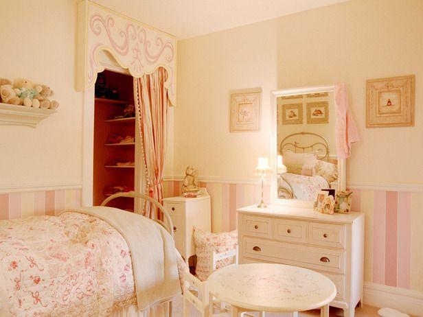 Inspiration for faiths room just different color palette   Enchanting Girls Room - Designer Candice Olson