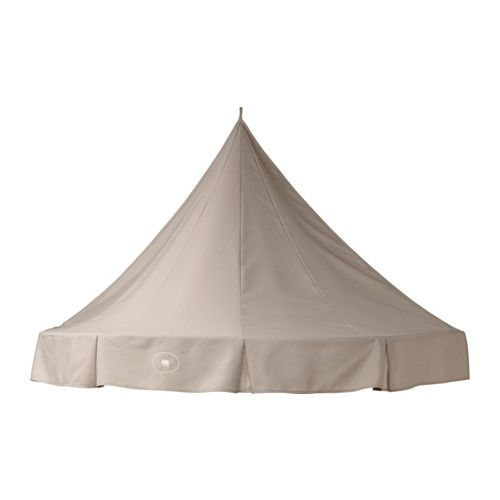 IKEA - CHARMTROLL, Bed canopy, , A bed canopy gives privacy and creates a room-in-room feeling.Can also be hung alone on the wall and at a lower height to make a cozy spot where your child can sit and play or read.Folds flat against the wall when not in use.Beige bed canopy that compliments other furniture.