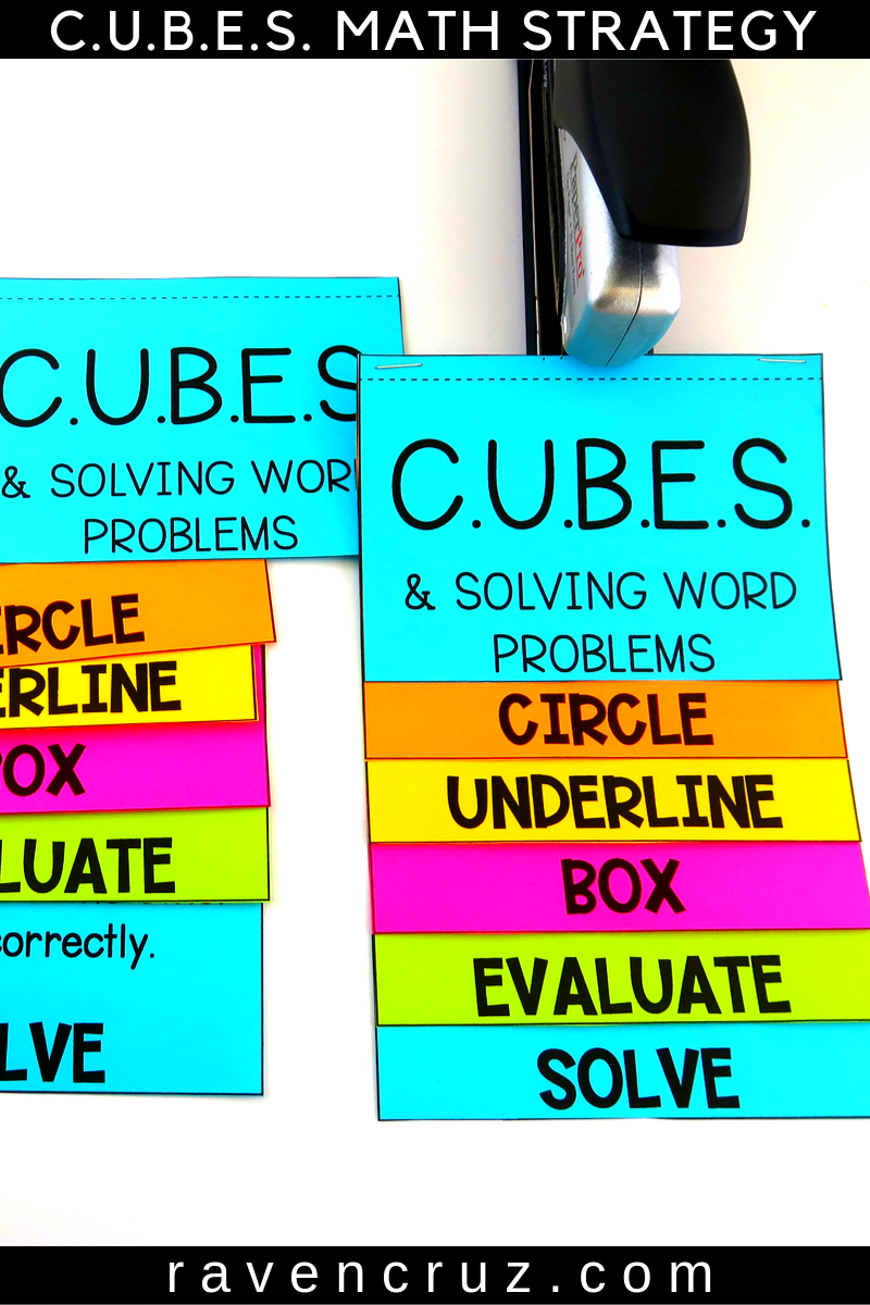 Cubes Math Strategy Flip Book Classroom And Distance Learning