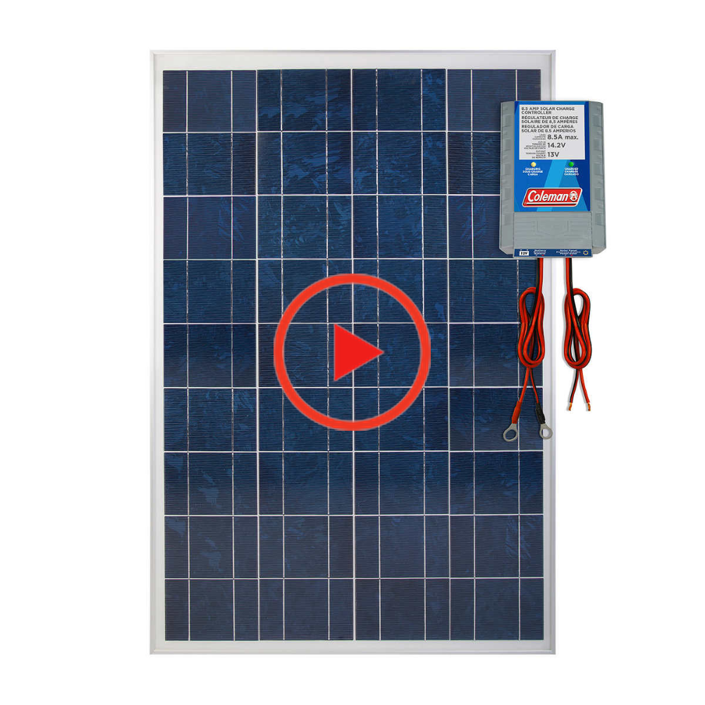 Coleman 100w Solar Panel With 8 5 Amp Charge Controller In 2020 Solar Panels Solar Controller Design