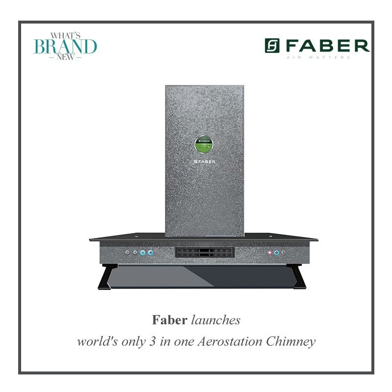 Faber Has Launched The 3 In 1 Aerostation Technology That Has A Chimney A Fan And An Air Purifier As Well The Hood Comes Wit Ro Water Purifier Purifier Faber