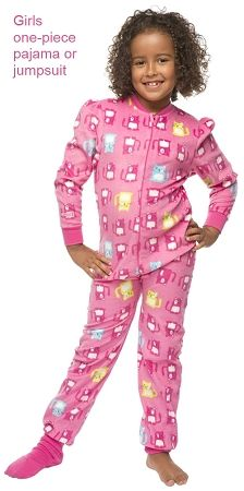 Girls Footed Pajamas Size 12 Breeze Clothing