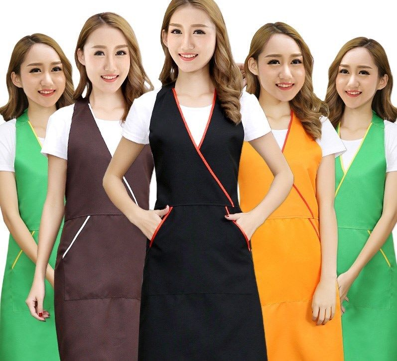 9.62 Anti Oil Pocket Work Apron For Nail Manicure
