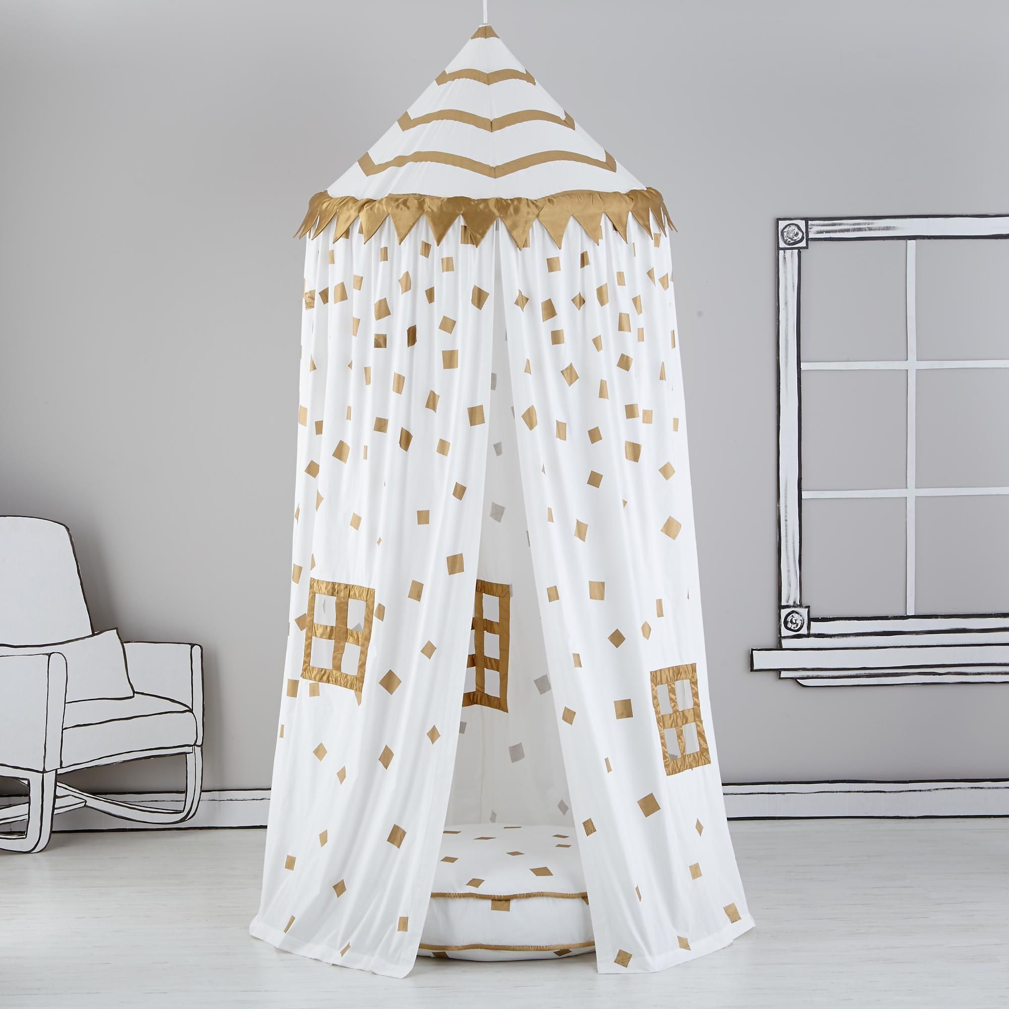 Kids playroom canopy - Land Of Nod Home Sweet Play Home Canopy