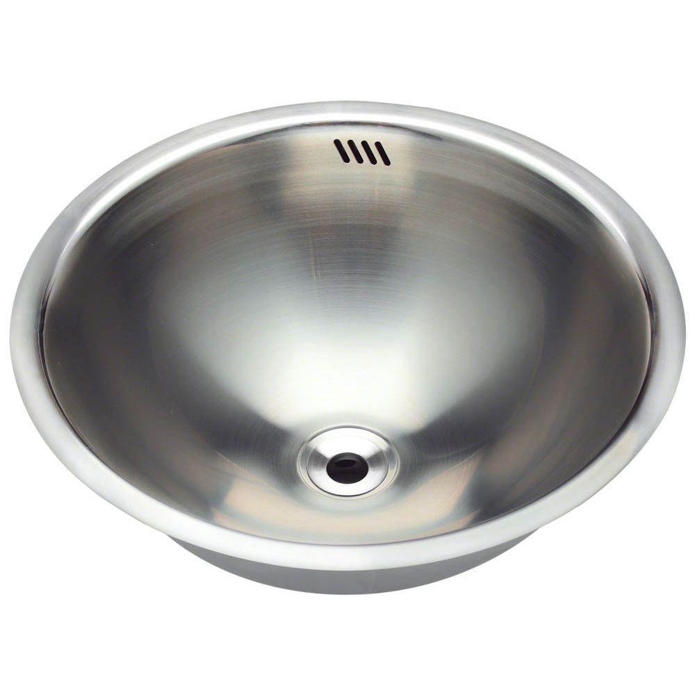 Polaris Sinks Tri Mount Bathroom Sink In Stainless Steel P024